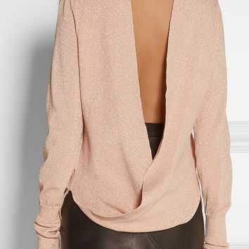 Dion Lee - Open-back metallic knitted sweater