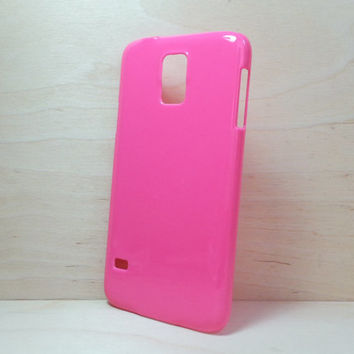 Hard Plastic Case for Samsung Galaxy S5 - Hot Pink