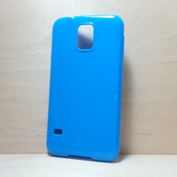 Candy Color TPU Soft Silicone case for Samsung Galaxy S5 - Navy Blue
