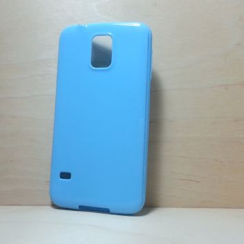 Candy Color TPU Soft Silicone case for Samsung Galaxy S5 - Light Blue