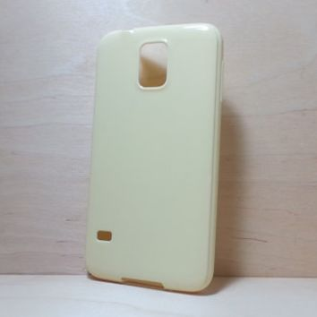 Candy Color TPU Soft Silicone case for Samsung Galaxy S5 - Light Yellow