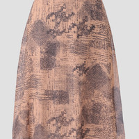 Playwright Printed Midi Skirt