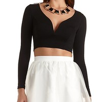 Plunge Front Crop Top by Charlotte Russe