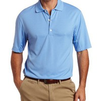 Greg Norman Men`s Pieced Tonal Jacquard Polo