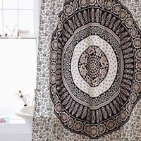 Magical Thinking Paisley Medallion Shower Curtain - Black & White One