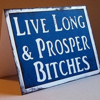 Live long and Prosper - Blue Star Trek inspired Card