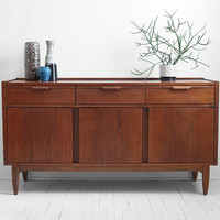 Vintage Teak Credenza - Mid Century, Modern, Wood, Buffet, Cabinet, Dresser