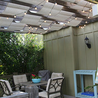 DIY Shade And Lights For A Deck | Shelterness