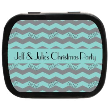 Ho Ho Ho Personalized Christmas Mint Tins, Stocking Stuffers, Holiday Ideas, Party Favors, Gift Ideas