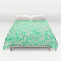 Sweetly Mint Duvet Cover by Lisa Argyropoulos