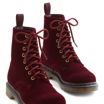 Show Off Your Strut Boot in Burgundy   Mod Retro Vintage Boots   ModCloth.com