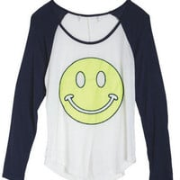 Neon Happy Face Tee