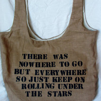 Kerouac quote bag