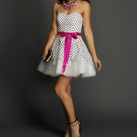 Dolly- Ivory Polka Dot Dress