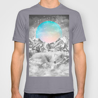 Put Your Thoughts To Sleep (Winter Moon / Wolf Spirit) T-shirt by Soaring Anchor Designs