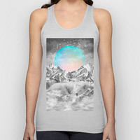 Put Your Thoughts To Sleep (Winter Moon / Wolf Spirit) Unisex Tank Top by Soaring Anchor Designs