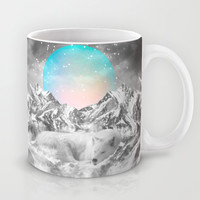 Put Your Thoughts To Sleep (Winter Moon / Wolf Spirit) Mug by Soaring Anchor Designs