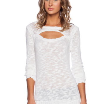 Vegas Central Park West Cut Out Sweater in Black