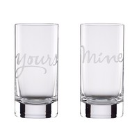 kate spade new york Two of a Kind Mine & Yours Highball Glasses, Set of 2