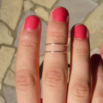 Delicate and Versatile Hand Hammered Silver Filled Adjustable Ring, Pinkie, Toe, Mid Finger