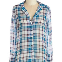 ModCloth Rustic Mid-length Long Sleeve Winsome Wandering Top