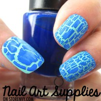 Blue Ice - Blue Matte Crackle Lacquer Shatter Effect  from nailartsupplies