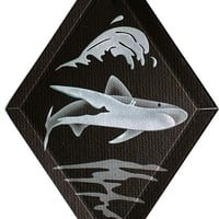 Carved Glass Shark Hanging Suncatcher by braithwaitestudios