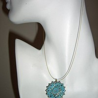 Feminine Petina Filigree Pendant Necklace