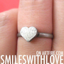 SALE Simple Basic Heart Shaped Ring Band in Silver Size 5 ONLY