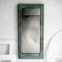 Favorite Verdigris Mirror on Antique Glass