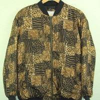 Leopardprint Bomber Jacket