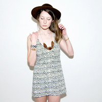 Racerback Tank Dress in &#x27;White Heat&#x27; Geo