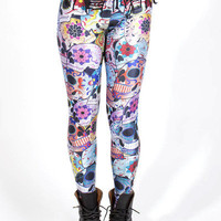 Day of the Dead Leggings | Black Milk Clothing