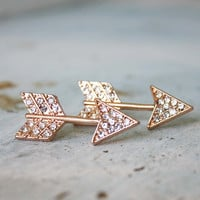 Glittering Arrows Earrings, Women&#x27;s Bohemian Jewelry