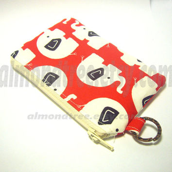 womens wallet | Elephant, id1340488 | coin purse | small zipper pouch | change wallet | Japan fabric | credit card case | gift ideas