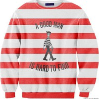 WHERE&#x27;S WALDO CREW NECK