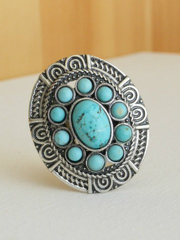 Santa Fe Station Ring [3195] - $17.00 : Vintage Inspired Clothing & Affordable Summer Dresses, deloom | Modern. Vintage. Crafted.