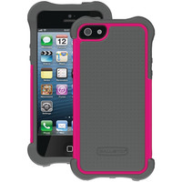 Ballistic Iphone 5 And 5s Sg Maxx Case With Holster (charcoal And Pink) - Ballistic Iphone 5 And 5s Sg Maxx Case With Holster (charcoal And Pink)