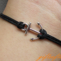 Cute Silver Anchor Bracelet