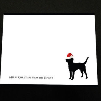Merry Christmas Family Dog Card - Stationary - Black Lab - Christmas Card - Christmas Stationary - Family Stationary
