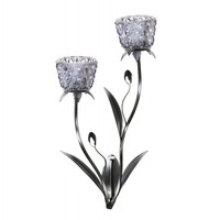 Glass Blooms Candle Wall Sconce - Glass Blooms Candle Wall Sconce
