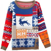 X&#x27;max Deer Round Neck Sweater$42.00