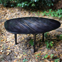 Modern Coffee Table Reclaimed Solid Wood Organic Shape
