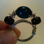 Blue Three Stone Ring