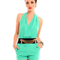 GYPSY WARRIOR - Jade Halter Romper