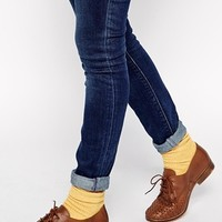 ASOS MITCH WIDE FIT Leather Woven Lace Up Shoes