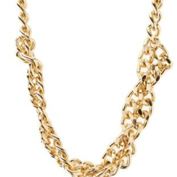 Twisted Chain Collar Necklace by Charlotte Russe - Gold