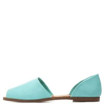 Dollhouse Peep Toe Two-Piece Flats by Charlotte Russe - Mint