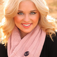 Frosty The Snowman Scarf: Pale Blush - One