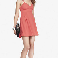 STRAPPY BABYDOLL DRESS - CORAL from EXPRESS